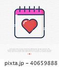 カレンダー 暦 アイコンのイラスト 40659888