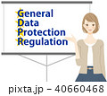 General Data Protection Regulation スライドで解説する女性 40660468