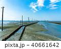 江川海岸 電柱 海の写真 40661642