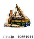 ペン ふで ベクトルのイラスト 40664944