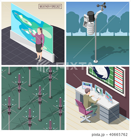 Weather Forecaster Isometric Concept 40665762