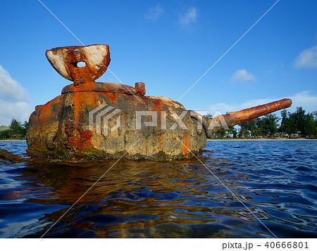 サイパン島キリリビーチに沈む戦車4 40666801