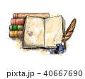 ペン ふで ベクトルのイラスト 40667690