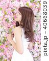 女性 女の子 花の写真 40668039