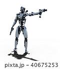 ロボット 人型ロボット 3DCGのイラスト 40675253