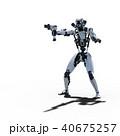 ロボット 人型ロボット 3DCGのイラスト 40675257