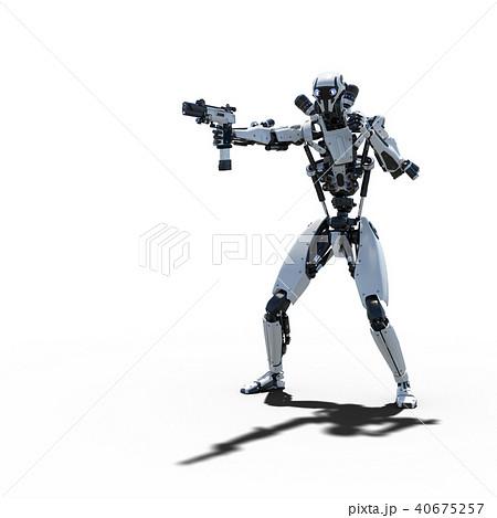 人型ロボット perming3DCGイラスト素材 40675257