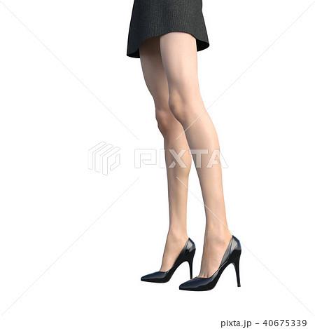 レッグケアイメージ 綺麗な女性の脚 perming3DCGイラスト素材 40675339