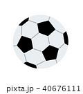 サッカーボール イラスト 40676111