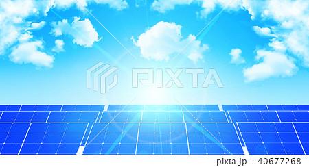 ソーラー 発電 エネルギー 背景  40677268