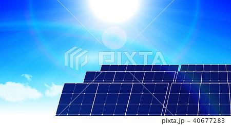 ソーラー 発電 エネルギー 背景  40677283