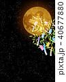 七夕 七夕飾り 満月のイラスト 40677880