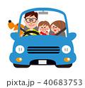 ドライブ 運転 家族のイラスト 40683753