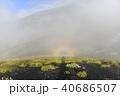富士山 双子山に現れたブロッケン現象 40686507