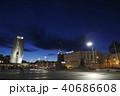 夕闇迫るウラジオストク中央広場 40686608