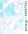 水紋 波紋 背景素材のイラスト 40687091
