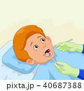 男の子 男児 むし歯のイラスト 40687388