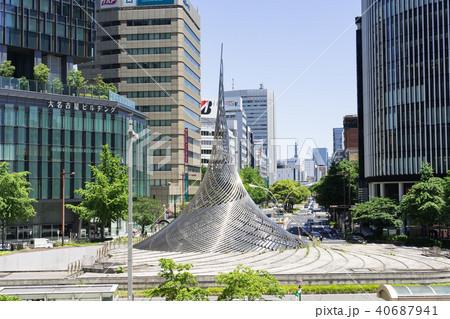 名古屋駅前ロータリー 都市風景 40687941