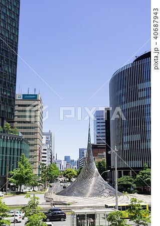 名古屋駅前ロータリー 都市風景 40687943