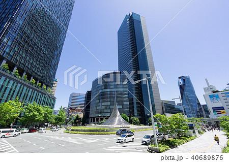 名古屋駅前ロータリー 都市風景 ミッドランドスクエア  モード学園スパイラルタワーズ 40689876