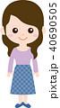 人物 ファミリー(女性・お母さん)普段着 40690505