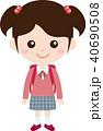 人物 ファミリー(女の子・小学生)制服 40690508