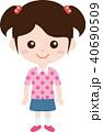 人物 ファミリー(女の子・小学生)私服 40690509