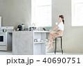 ライフスタイル キッチン 女性の写真 40690751