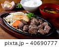肉料理 サイコロステーキ 食べ物の写真 40690777