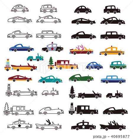 可愛い車のイラストのイラスト素材 40695877 Pixta