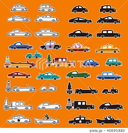 可愛い車のイラストのイラスト素材 40695880 Pixta
