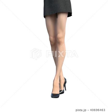 レッグケアイメージ 綺麗な女性の脚 perming3DCGイラスト素材 40696463