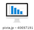 グラフ チャート パソコンのイラスト 40697191