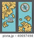 地図 海 海原のイラスト 40697498