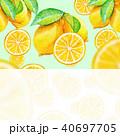 レモン|背景素材/水彩画 40697705