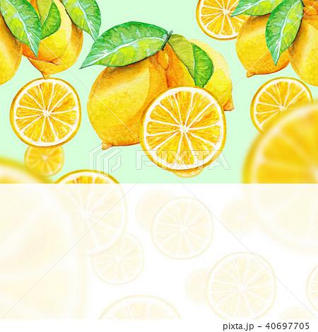 レモン 背景素材/水彩画 40697705