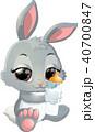 うさぎ マンガ 漫画のイラスト 40700847