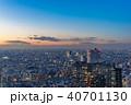 東京都 夕暮れ 夕景の写真 40701130