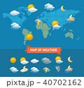 天気 気象 天候のイラスト 40702162