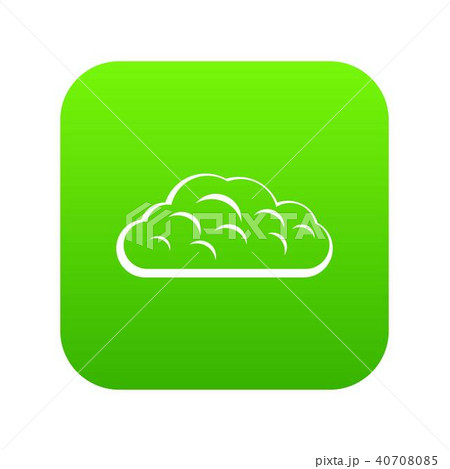 Winter cloud icon digital green 40708085