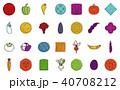 野菜 組み合わせ カラーのイラスト 40708212