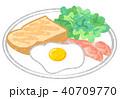 朝食 食べ物 料理のイラスト 40709770