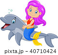 漫画 いるか イルカのイラスト 40710424