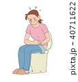 腹痛 トイレ 人物のイラスト 40711622