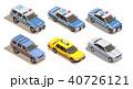 車 自動車 アイソメトリックのイラスト 40726121