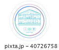IOT スマートホーム IOT家電のイラスト 40726758