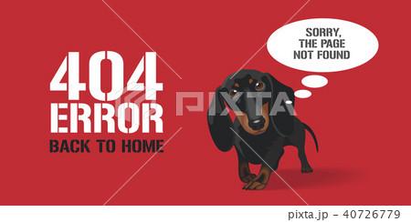 404 error page vector illustration, banner 40726779