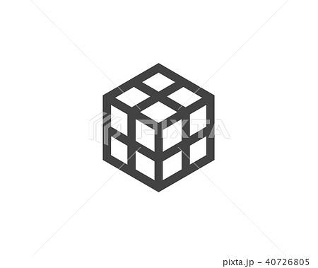 cube logo template vector iconのイラスト素材 40726805 pixta