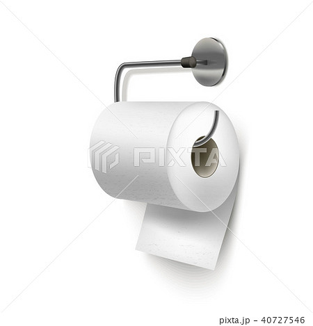 Realistic Detailed 3d Textured Toilet Paper. Vector 40727546