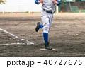 野球 男性 白球の写真 40727675